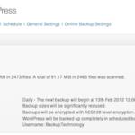 Online Backup for WordPress