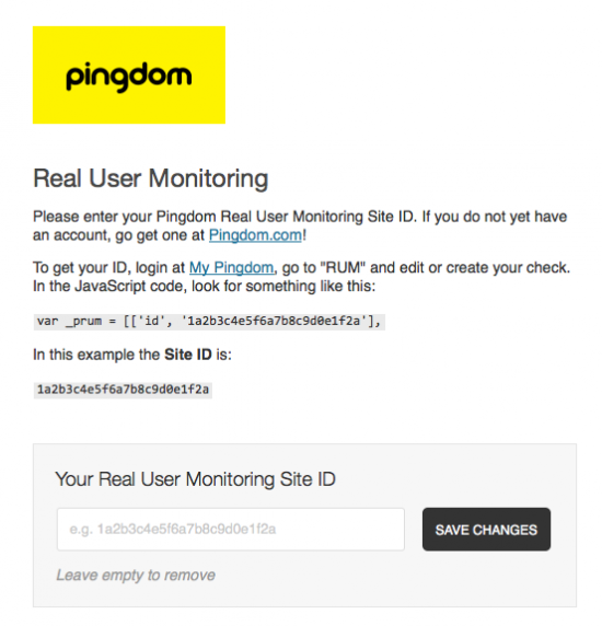 Pingdom WordPress Plugin