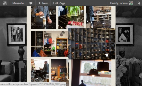 Responsive Gallery Grid in action. By default the images will pop out on mouse-over.