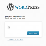 Two Factor Auth Plugin for WordPress