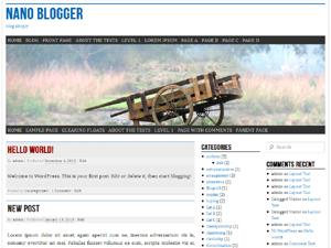 nano blogger theme