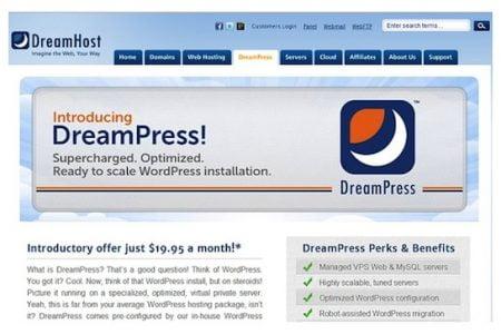 DreamHost Announces DreamPress, Premium Managed WordPress Hostinges Managed WordPress Service DreamPress