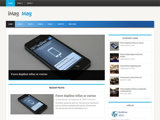 iMag Mag Theme for WordPress