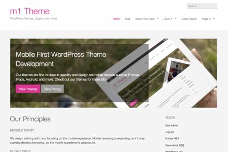 m1 Theme for WordPress