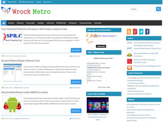 Wrock Metro Magazine Theme