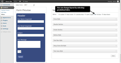 Custom Skins for Contact Form 7 Plugin