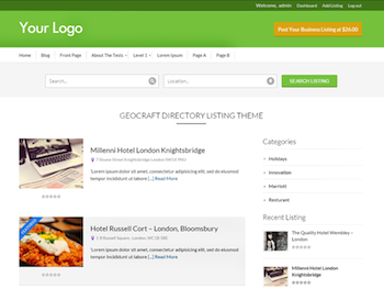Business Directory Theme for WordPress