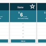 Minimal Responsive Pricing Table Plugin for WordPress
