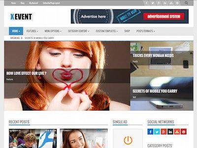 Xevent News and Magazine theme for WordPress