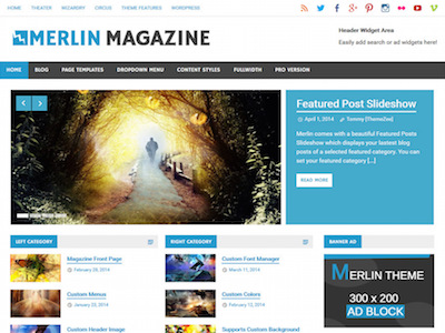 Merlin Magazine Theme for WordPress