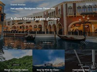 Travel Stories Theme for WordPress