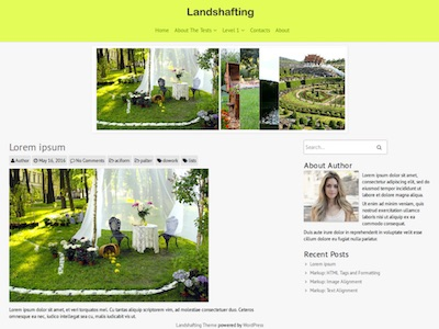 Landshafting Landscaping Garden WordPress Theme