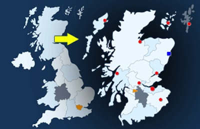 WordPress Interactive UK Regional Map Plugin