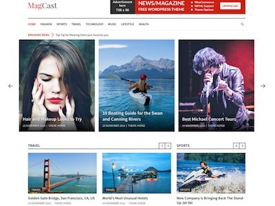 Magcast WordPress Magazine Theme