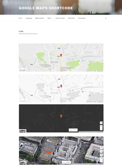 UpQode Google Map Visual Composer