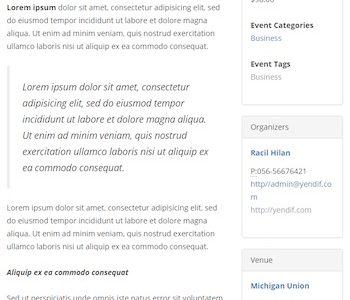 Another Events Calendar for WordPress
