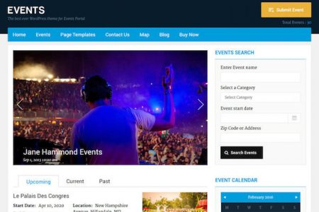 WordPress Events Theme