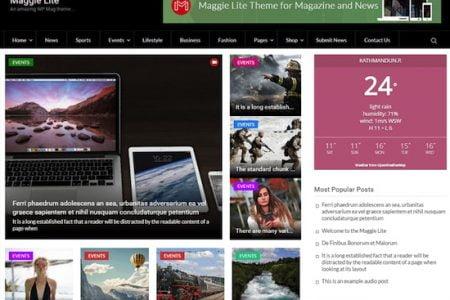 Maggie Lite  WordPress Magazine Theme