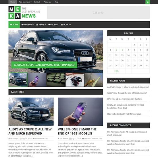 MekaNews Lite WordPress
