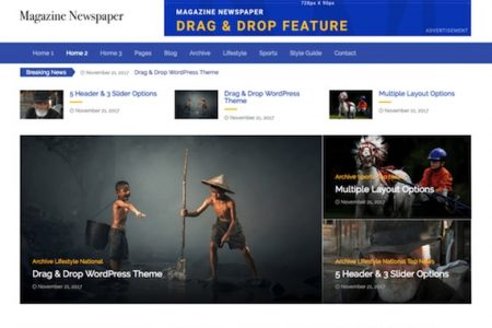 Magazine Newspaper Theme By The Bootstrap