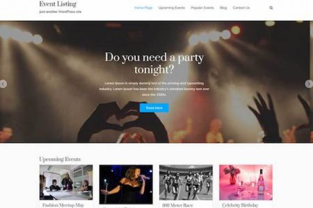 Event Listing Theme for WordPress