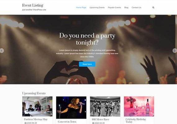 Event Listing Theme for WordPress