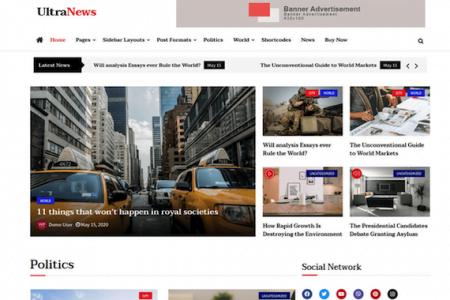 Ultra News Theme for WordPress