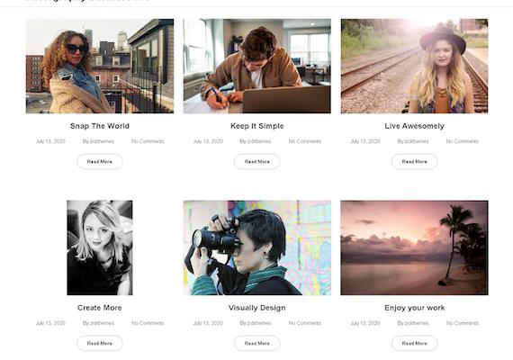 Photography Business WordPress Theme