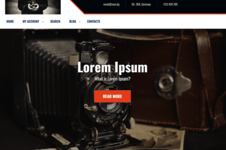Photography Studio WordPress Theme